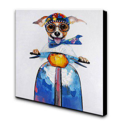 YHHP Hand-painted Dog Canvas Oil Painting DecorationOil Paintings<br>YHHP Hand-painted Dog Canvas Oil Painting Decoration<br><br>Brand: YHHP<br>Craft: Oil Painting<br>Form: One Panel<br>Material: Canvas<br>Package Contents: 1 x Oil Painting<br>Package size (L x W x H): 102.00 x 102.00 x 5.00 cm / 40.16 x 40.16 x 1.97 inches<br>Package weight: 3.0000 kg<br>Painting: Include Inner Frame<br>Product size (L x W x H): 100.00 x 100.00 x 3.00 cm / 39.37 x 39.37 x 1.18 inches<br>Product weight: 1.4000 kg<br>Shape: Square<br>Style: Funny, Cute<br>Subjects: Animal<br>Suitable Space: Bedroom,Cafes,Dining Room,Hallway,Hotel,Living Room,Office