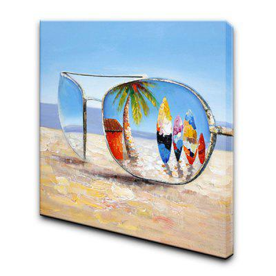 YHHP Sunglasses Canvas Oil Painting DecorationOil Paintings<br>YHHP Sunglasses Canvas Oil Painting Decoration<br><br>Brand: YHHP<br>Craft: Oil Painting<br>Form: One Panel<br>Material: Canvas<br>Package Contents: 1 x Oil Painting<br>Package size (L x W x H): 82.00 x 82.00 x 5.00 cm / 32.28 x 32.28 x 1.97 inches<br>Package weight: 2.0000 kg<br>Painting: Include Inner Frame<br>Product size (L x W x H): 80.00 x 80.00 x 3.00 cm / 31.5 x 31.5 x 1.18 inches<br>Product weight: 1.1000 kg<br>Shape: Square<br>Style: Modern, Landscape<br>Subjects: Landscape<br>Suitable Space: Bedroom,Cafes,Dining Room,Hotel,Living Room,Office