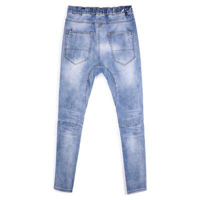 Fashionable Stylish Ripped Denim JeansMens Pants<br>Fashionable Stylish Ripped Denim Jeans<br><br>Material: Cotton, Polyester, Spandex, Viscose<br>Package Contents: 1 x Pants<br>Package size: 40.00 x 25.00 x 5.00 cm / 15.75 x 9.84 x 1.97 inches<br>Package weight: 0.4600 kg<br>Product weight: 0.4400 kg<br>Thickness: Thin