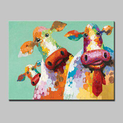 Buy COLORMIX Mintura MT160673 Hand Painted Cow Oil Painting for $57.87 in GearBest store