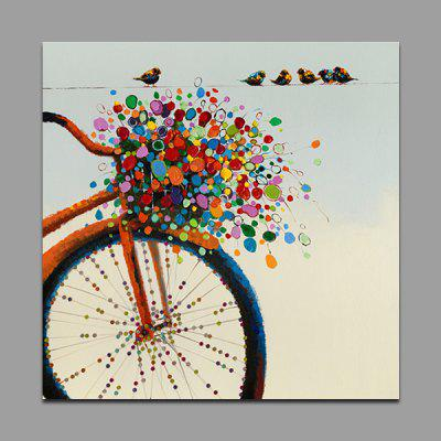Buy COLORMIX YHHP Bike Pattern Canvas Oil Painting Decorative Picture for $31.89 in GearBest store