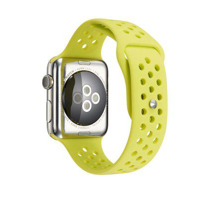 Simple Breathable Silicone Watchband for 42mm Apple Watch outdoor sport buckle watchband for apple watch 42mm
