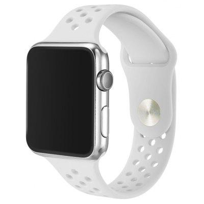 Pulsera de Reloj de Silicona Simple y Transpirable para 42mm Apple Watch
