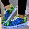 Male Ultralight LED Colorful Fluorescence Sports Athletic Shoes - NEON GREEN
