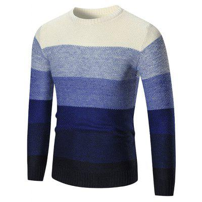 Simple Slim Fit Striped Sweater