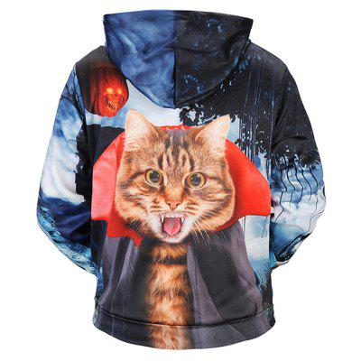 New Scary Cat Printing Halloween SweatshirtMens Hoodies &amp; Sweatshirts<br>New Scary Cat Printing Halloween Sweatshirt<br><br>Clothes Type: Hoodie<br>Material: Polyester, Spandex<br>Occasion: Casual<br>Package Contents: 1 x Sweatshirt<br>Package size: 38.00 x 30.00 x 2.00 cm / 14.96 x 11.81 x 0.79 inches<br>Package weight: 0.4800 kg<br>Product weight: 0.4500 kg<br>Style: Casual<br>Thickness: Regular