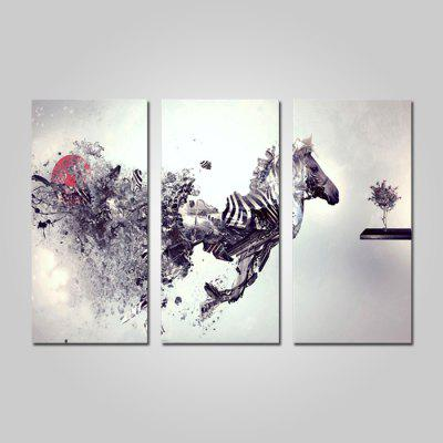 Buy COLORMIX JOY ART Framed Print Modern Horse Hanging Artwork 3PCS for $44.23 in GearBest store