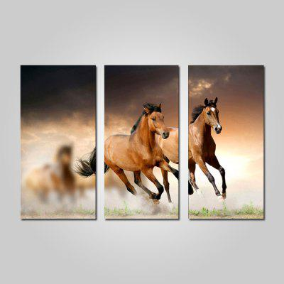 Buy COLORMIX JOY ART Framed Print Running Horse Hanging Artwork 3PCS for $44.23 in GearBest store