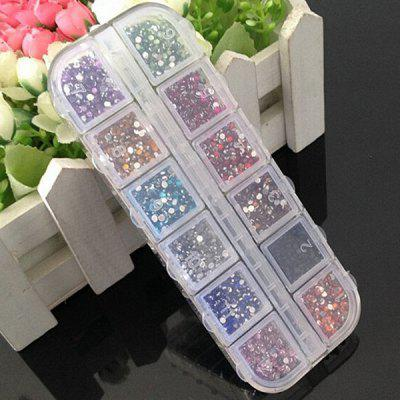 12 Colors Premium Rhinestones Nail Art Decorations