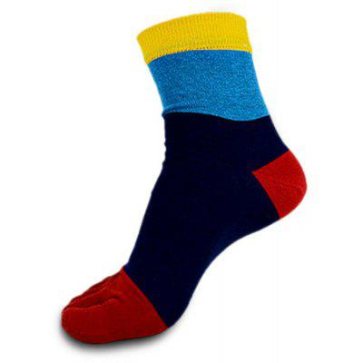 Male Contracted Joint Breathable Sweat Absorption Toe Socks