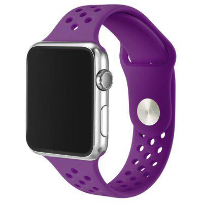 Pulsera de Reloj de Silicona Transpirable para 38mm Apple Watch