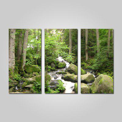 Buy COLORMIX JOY ART Framed Print Forest Creek Hanging Artwork 3PCS for $44.23 in GearBest store