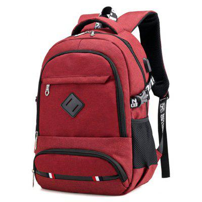 Men Outdoor Durable Nylon Sports Backpack with USB Port