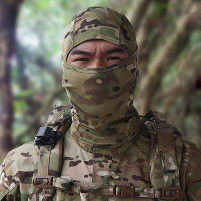 Buy JUNGLE CAMOUFLAGE Outdoor Breathable Full Cover CS Protective Mask for $6.94 in GearBest store