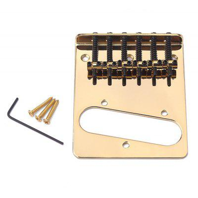 Electric Guitar 6-string Bridge with Flat for Telecaster Guitar