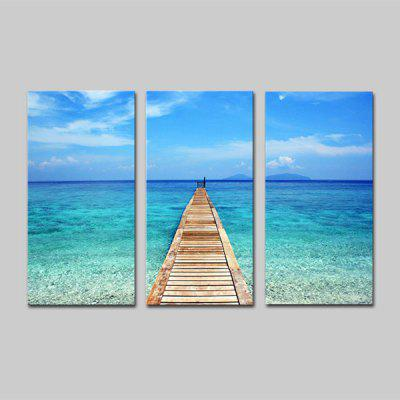 Buy COLORMIX JOY ART Hanging Print Seascape Framed Artwork 3PCS for $44.23 in GearBest store