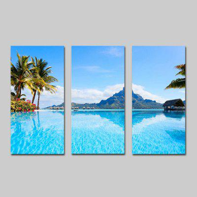 Buy BLUE JOY ART Canvas Hanging Print Seascape Framed Artwork 3PCS for $44.23 in GearBest store
