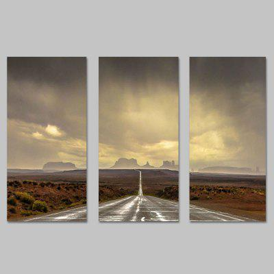 Buy COLORMIX JOY ART Canvas Hanging Print Road Framed Artwork 3PCS for $44.23 in GearBest store