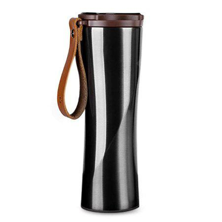 Portable Intelligent Thermal Vacuum Water Bottle - Black