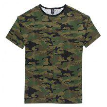 HZIJUE Camouflage Pattern Short Sleeve T-shirt for Men