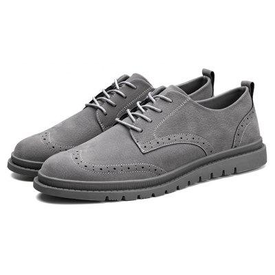 Masculino Stylish Brogue Respirável Soft Casual Shoes