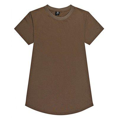 HZIJUE Male Casual Loose Pure Color T-shirt