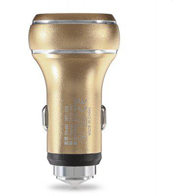 Buy GOLDEN Dual USB Interfaces Car Charger with Emergency Hammer for $2.66 in GearBest store