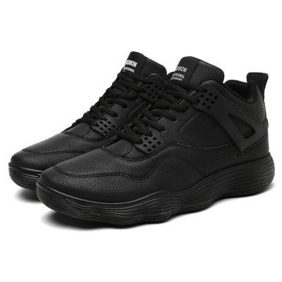 Male Simple Soft Ankle Top Sports Outdoor Sneakers