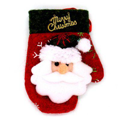 Christmas Joyous Decorative Gloves Type Tableware Cover