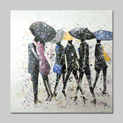 Buy COLORMIX Mintura MT160652 Canvas People in the Rain Oil Painting for $53.20 in GearBest store