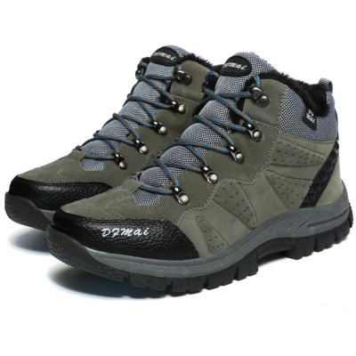 Male Warmest Outdoor Plush Hiking Athletic Shoes