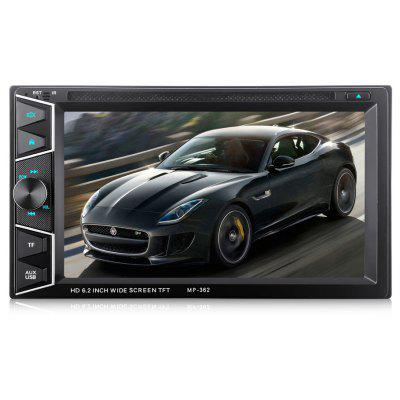 Buy BLACK MP362 2 Din 6.2 inch Bluetooth Car Stereo DVD CD Player for $98.07 in GearBest store
