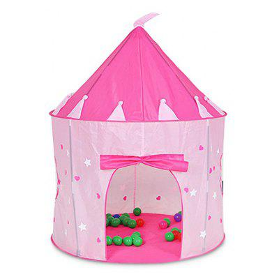 Night Light Pink Princess Castle Cute Baby Tent