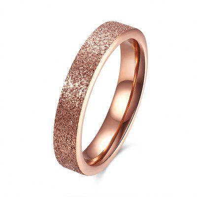 Trendy Women Stainless Frosted  Ring