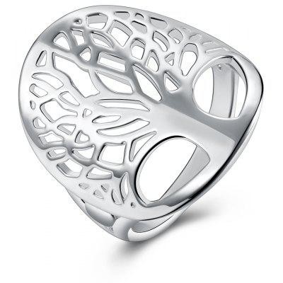 Unisex Chic Hollow-out Tree Shape Copper Ring