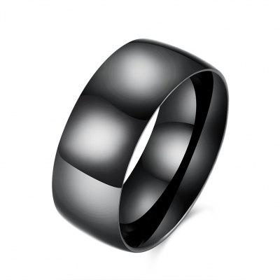 Men Simple Fashionable Stainless Steel Ring
