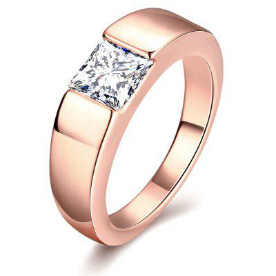 Buy ROSE GOLD 10 Individuality Male Zircon Ring for $4.43 in GearBest store