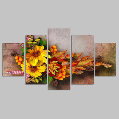 Buy COLORMIX YSDAFEN kn 612 Beautiful Flowers Canvas Print 5PCS for $55.37 in GearBest store
