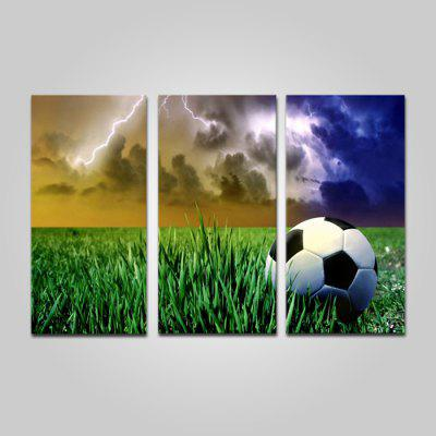 Buy COLORMIX JOY ART 0130 Stretched Canvas Football on Grass Print 3PCS for $44.23 in GearBest store