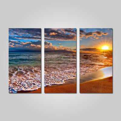 Buy COLORMIX JOY ART 0127 Stretched Canvas Sunset Sea Print 3PCS for $44.23 in GearBest store
