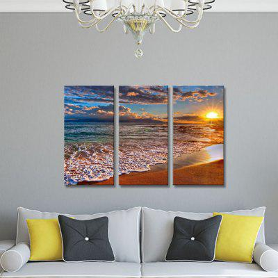 JOY ART 0127 Stretched Canvas Sunset Sea Print 3PCSPrints<br>JOY ART 0127 Stretched Canvas Sunset Sea Print 3PCS<br><br>Brand: JOY ART<br>Craft: Print<br>Form: Three Panels<br>Material: Canvas<br>Package Contents: 3 x Print<br>Package size (L x W x H): 62.00 x 7.00 x 32.00 cm / 24.41 x 2.76 x 12.6 inches<br>Package weight: 1.6000 kg<br>Painting: Include Inner Frame<br>Product weight: 1.3000 kg<br>Shape: Vertical<br>Style: Modern<br>Subjects: Seascape<br>Suitable Space: Bedroom,Living Room