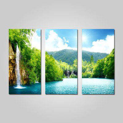 Buy GREEN JOY ART 0120 Stretched Landscape Canvas Print 3PCS for $44.23 in GearBest store