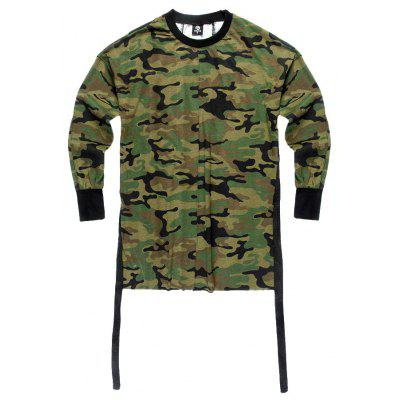 HZIJUE Camouflage Pattern Long Sleeve T-shirt for Men