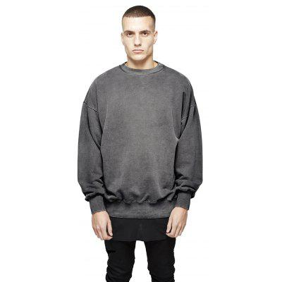 Buy GRAY L HZIJUE Cotton Loose Sweatshirts for Men for $33.69 in GearBest store