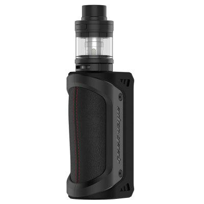 Original GEEKVAPE Aegis KitMod kits<br>Original GEEKVAPE Aegis Kit<br><br>APV Mod Wattage: 100W<br>APV Mod Wattage Range: 51-100W<br>Atomizer Type: Tank Atomizer, Clearomizer<br>Battery Form Factor: 18650, 26650<br>Battery Quantity: 1pc ( not included )<br>Brand: Geekvape<br>Connection Threading of Atomizer: 510<br>Connection Threading of Battery: 510<br>Material: Zinc Alloy, Stainless Steel, Leather, Glass<br>Mod Type: VV/VW Mod, Temperature Control Mod<br>Model: Aegis<br>Package Contents: 1 x Mod, 1 x Atomizer, 1 x USB Cable, 1 x English User Manual, 1 x Extra Coil Head<br>Package size (L x W x H): 18.00 x 11.00 x 7.00 cm / 7.09 x 4.33 x 2.76 inches<br>Package weight: 0.4200 kg<br>Product size (L x W x H): 13.50 x 4.68 x 3.78 cm / 5.31 x 1.84 x 1.49 inches<br>Product weight: 0.2600 kg<br>Temperature Control Range: 100 - 300 Deg.C<br>Type: Mod Kit