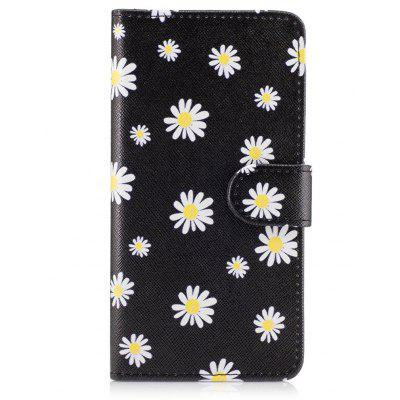 Daisy Theme Wallet Stand Flip Cover Case for iPhone X