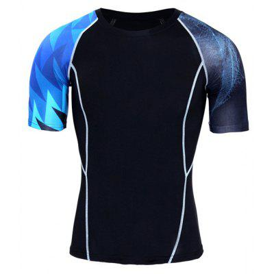 High Elastic Tight Breathable Sports Male T-shirt