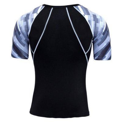 Sweat Absorption Running Sports Male Elastic T-shirtWeight Lifting Clothes<br>Sweat Absorption Running Sports Male Elastic T-shirt<br><br>Features: Breathable, High elasticity, Quick Dry<br>Material: Spandex, Polyester<br>Package Content: 1 x T-shirt<br>Package size: 35.00 x 30.00 x 2.00 cm / 13.78 x 11.81 x 0.79 inches<br>Package weight: 0.1800 kg<br>Product weight: 0.1600 kg<br>Types: Short Sleeves