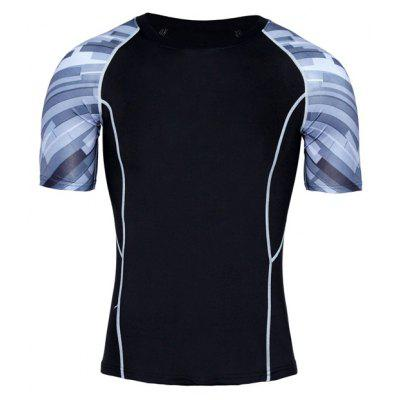 Sweat Absorption Running Sports Male Elastic T-shirt