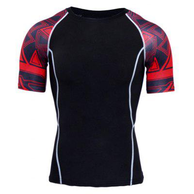Quick Dry Tight Male Basketball Elastic Breathable T-shirt